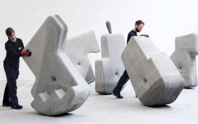 Bloques de hormigón de 23 toneladas que se pueden mover a mano